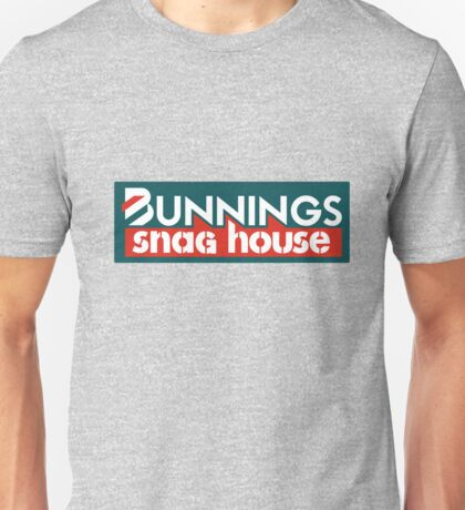 Bunnings Warehouse Snag Sticker Unisex T-Shirt