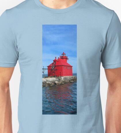 Sturgeon Bay Ship Canal Pierhead Lighthouse Unisex T-Shirt