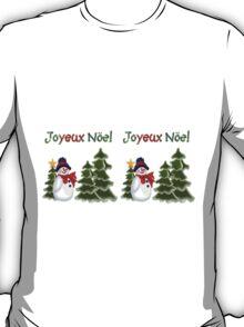 Snowman Winter  Scene Joyeux Noel Coffee Mug T-Shirt