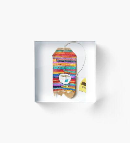 Tea Bag Serape Acrylic Block