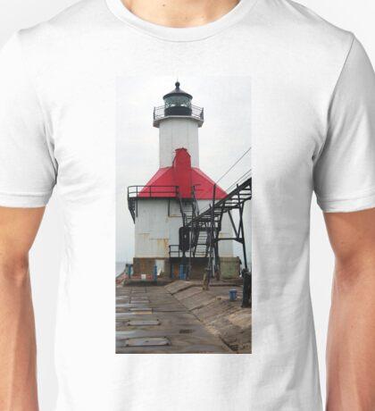 St. Joseph North Pier Lights Lighthouse, Lake Michigan Unisex T-Shirt