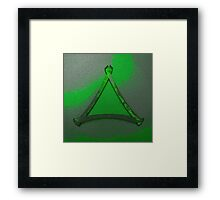Warped Triangle In Green Framed Print