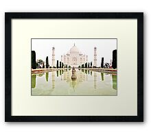 The Taj Mahal at Sunrise in November  Framed Print