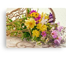 Last Of Summer In Tipped Basket  Canvas Print