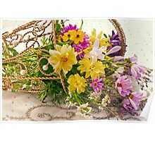 Last Of Summer In Tipped Basket  Poster