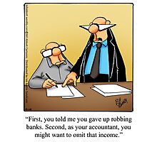 "Funny ""Spectickles"" Accounting Cartoon Photographic Print"