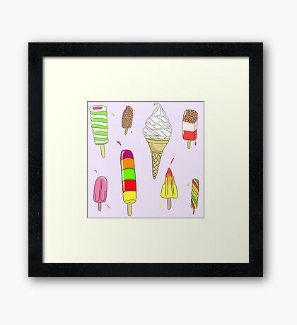 Ice Lolly Heaven Framed Print