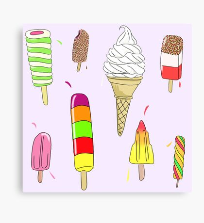Ice Lolly Heaven Canvas Print