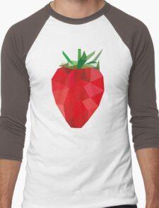 Poly Strawberry Men's Baseball ¾ T-Shirt