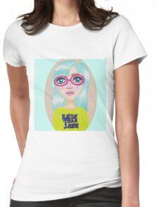 Suzie - Pop Art Girl Portrait Print Womens Fitted T-Shirt