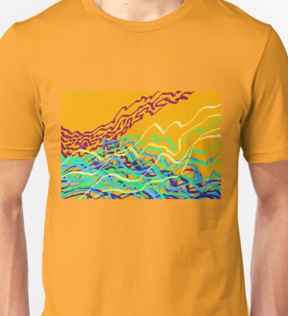 Coastal Frequencies 1 Abstract Art Unisex T-Shirt