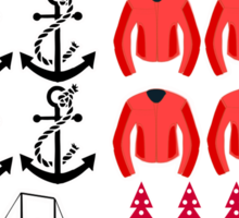 Captain Swan - Ugly Christmas Sweater Sticker