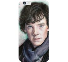 Sherlock Holmes Portrait, Benedict Cumberbatch, Art iPhone Case/Skin