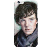 Sherlock Holmes Portrait, Benedict Cumberbatch, Art iPhone Case/Skin