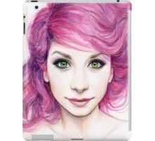 Beautiful Girl with Magenta Hair iPad Case/Skin