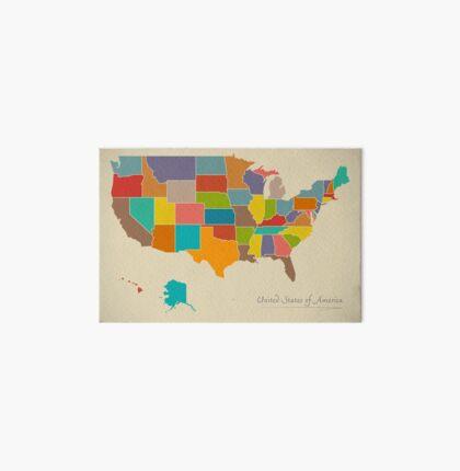 USA map artwork color illustration Art Board