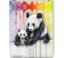 Pandas in the Rainbow Watercolor iPad Case/Skin