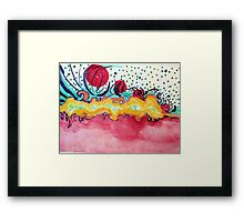 Caterpillar, abstract ink painting. Framed Print