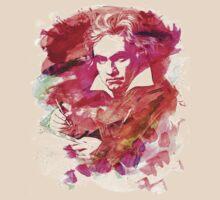 Ludwig van Beethoven Watercolor Remix  T-Shirt