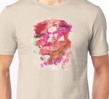 Ludwig van Beethoven Watercolor Remix  Unisex T-Shirt