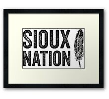The Sioux Nation Framed Print