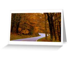 Autumn Walk in the Woods-Virginia    ^ Greeting Card