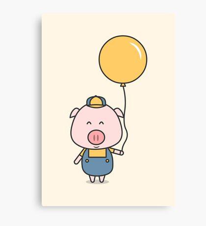 Little Piggy Canvas Print
