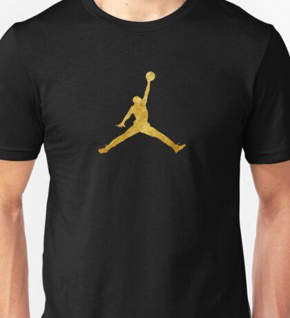 Gold Jordan Logo Unisex T-Shirt