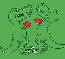 T-Rex Boxing by jellysoupstudio
