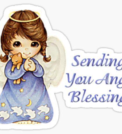Sending you angel blessings  Sticker
