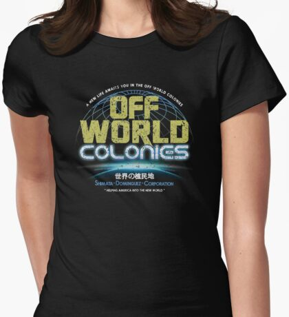 Blade Runner - Shimata Dominguez Off World Colonies Distressed Womens Fitted T-Shirt