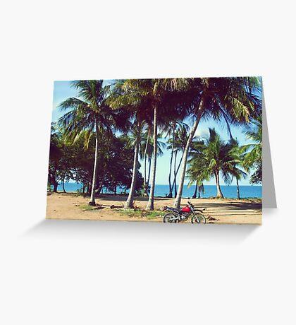 Beach Bike Greeting Card