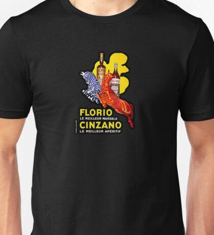 """Art Deco """"Florio and Cinzano"""" Illustration by Leonetto Cappiello Unisex T-Shirt"""