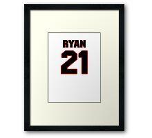 NFL Player Ryan Mundy twentyone 21 Framed Print