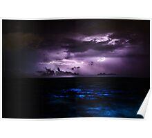 Ocean Lightning Poster