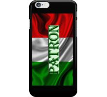 ITILIAN FLAG with the word PATRON iPhone Case/Skin