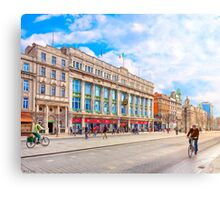 Beautiful Winter Morning On O'Connell Street In Dublin Ireland Canvas Print