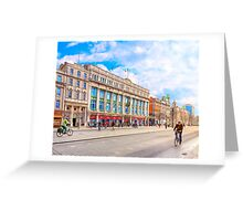 Beautiful Winter Morning On O'Connell Street In Dublin Ireland Greeting Card