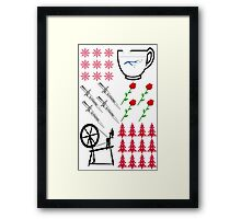Rumbelle - Ugly Christmas Sweater Framed Print