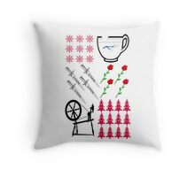 Rumbelle - Ugly Christmas Sweater Throw Pillow