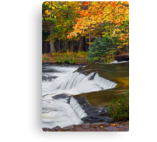 Waterfall in Autumn Forest Canvas Print