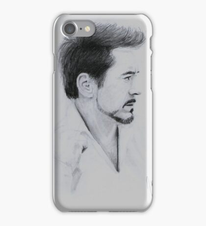 Robert Downey Jr. Graphite Drawing iPhone Case/Skin