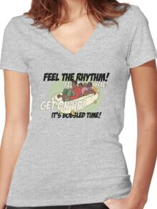 Cool Runnings!!! Women's Fitted V-Neck T-Shirt