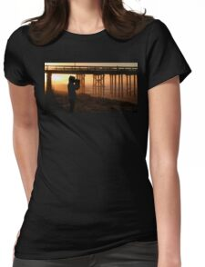 Photographer At Sunset Womens Fitted T-Shirt