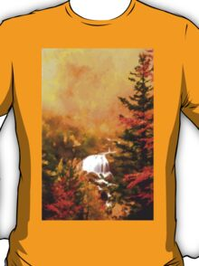 autumn fall morning mist forest T-Shirt