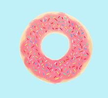 Pink Sprinkled Donut by theallegra