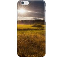 breathtaking sunset above meadow  iPhone Case/Skin