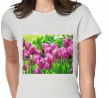 LAVENDER TULIPS BATHED IN SUNLIGHT Womens Fitted T-Shirt
