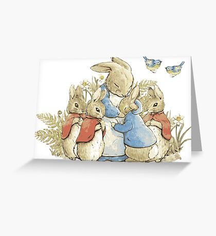 Beatrix Potter- Lets have a Cuddle! Greeting Card