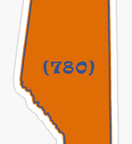 Northern Alberta Area Code 780 Sticker